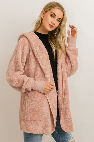 Colorado Cozy Teddy Jacket in Mauve
