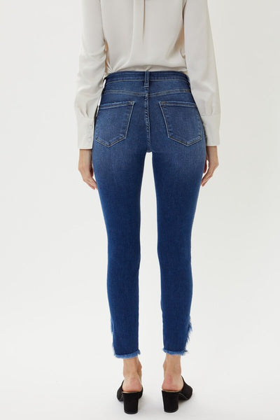 Santa Monica High Rise Frayed Jeans