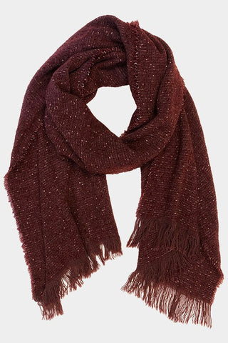 Fashionable Frayed Scarf