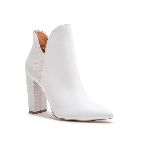 Sassy Chic White Booties