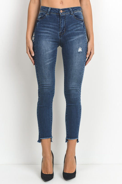 Carmel High Waist Cropped Jeans