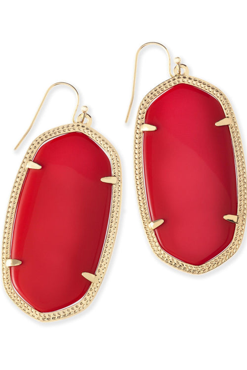 Kendra Scott Danielle Earrings In Bright Red