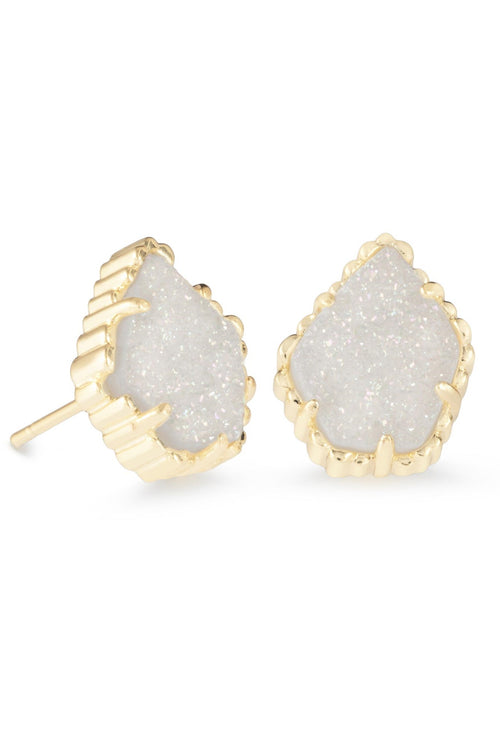 Kendra Scott Tessa Stud Earrings Gold with Iridescent Drusy