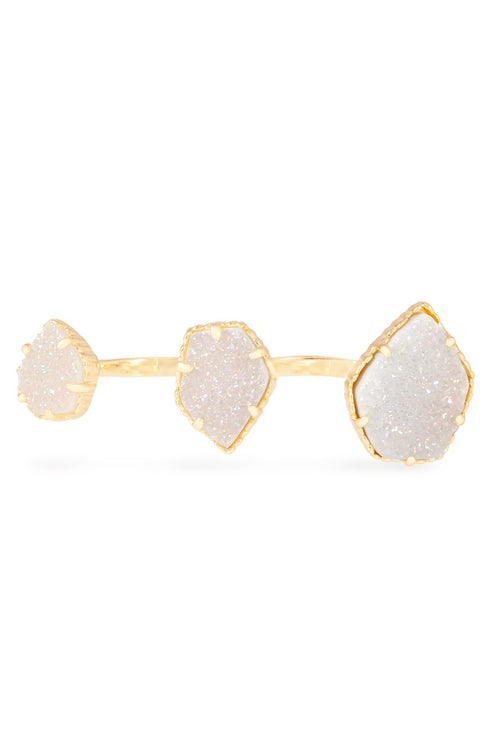 Kendra Scott Naomi Double Ring in Gold Iridescent Drusy
