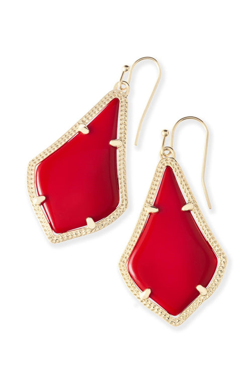 Kendra Scott Alex Earrings In Bright Red