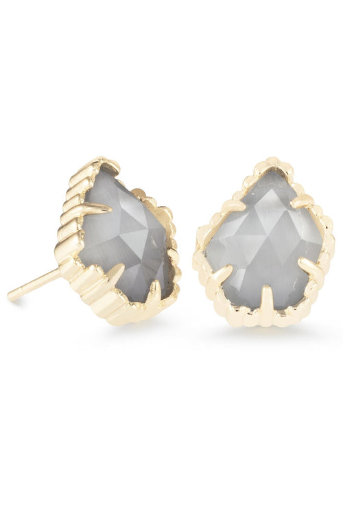 Kendra Scott Tessa Gold Stud Earrings In Slate