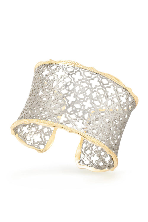 Kendra Scott Candice Gold Cuff Bracelet In Silver Filigree