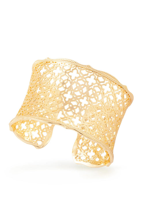 Kendra Scott Candice Cuff In Gold Filigree