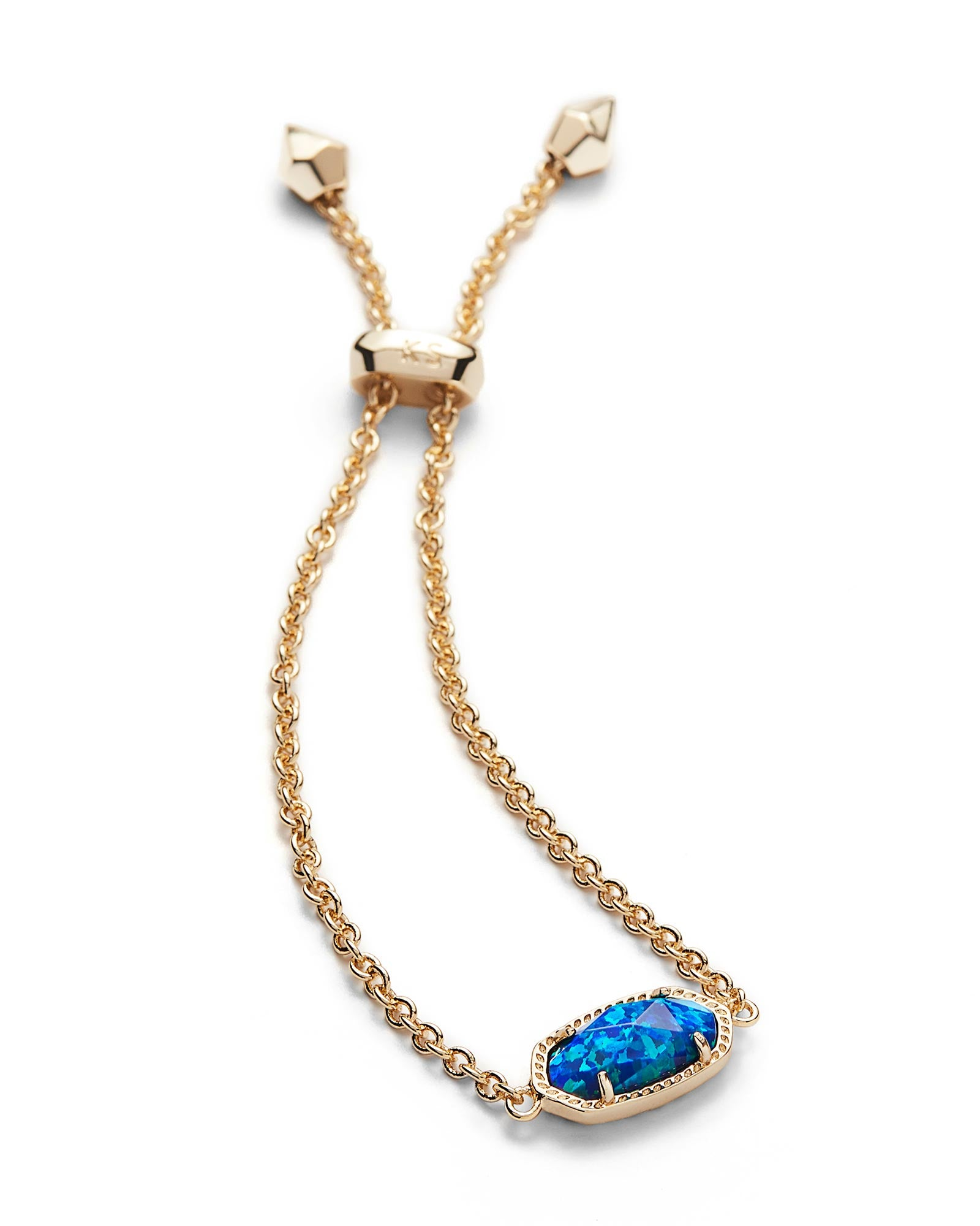 Kendra Scott Elaina Bracelet In Royal Blue Kyocera Opal