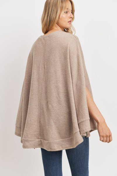 Graceful Beauty Poncho Sweater Top
