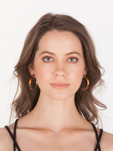 Sheila Fajl Chantal Hoop Earrings in Burnished Gold
