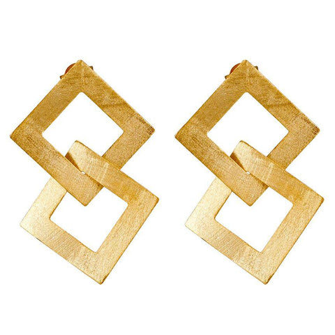 Sheila Fajl Boone Earrings in Brushed Gold