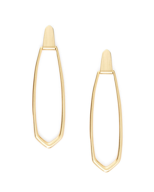Kendra Scott Patterson Hoop Earrings In Gold