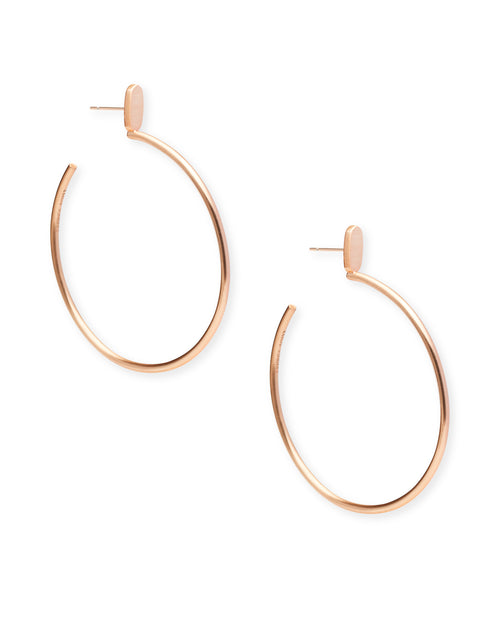 Kendra Scott Pepper Hoop Earrings In Rose Gold