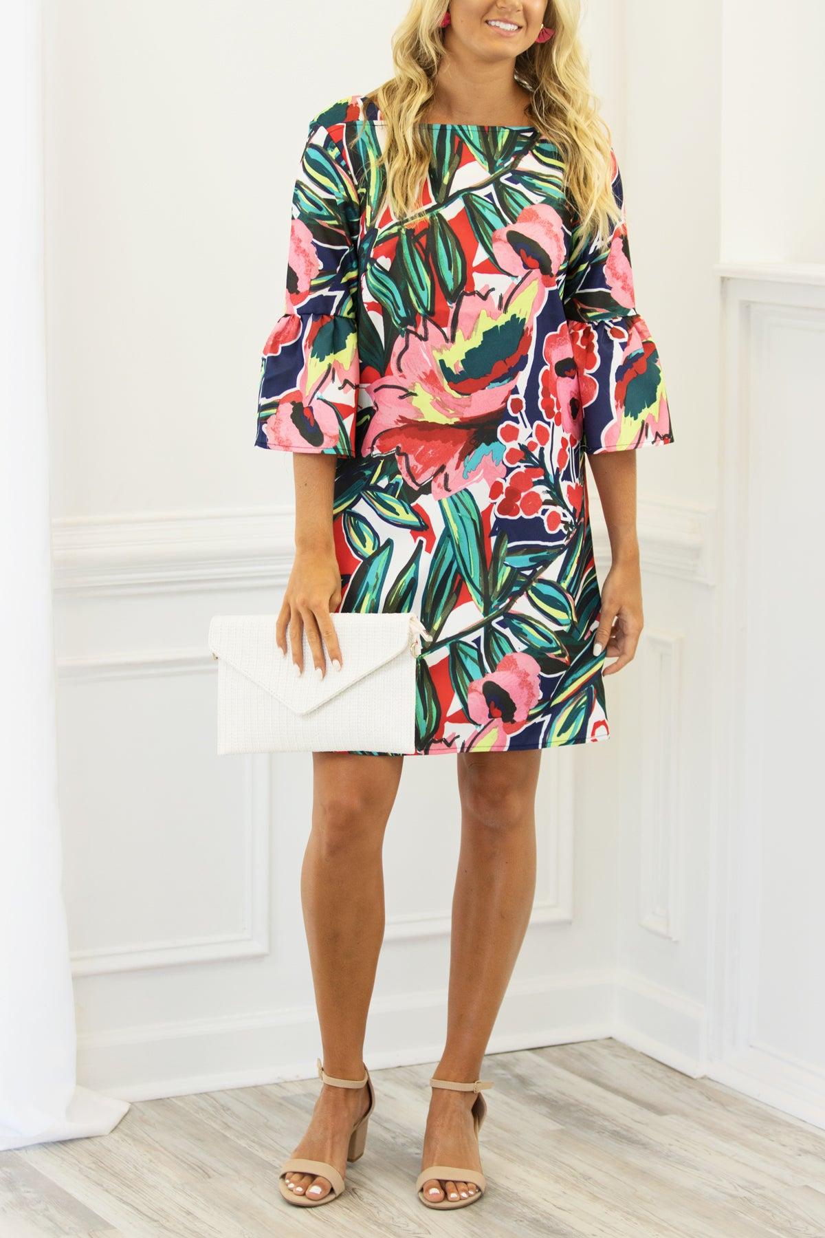 Sophisticated Floral Dress