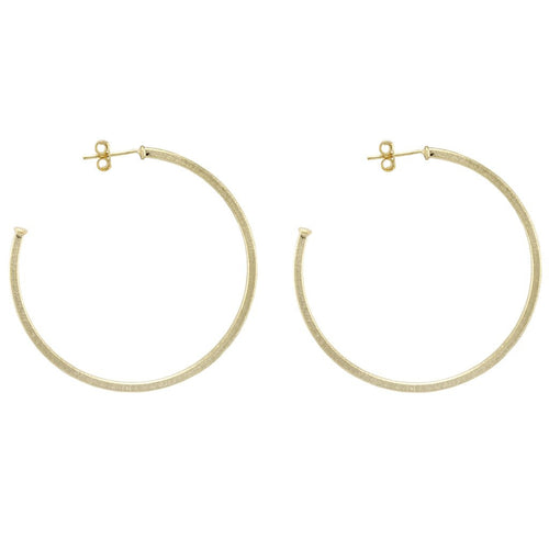 SHEILA FAJL Perfect Hoops in Brushed Gold