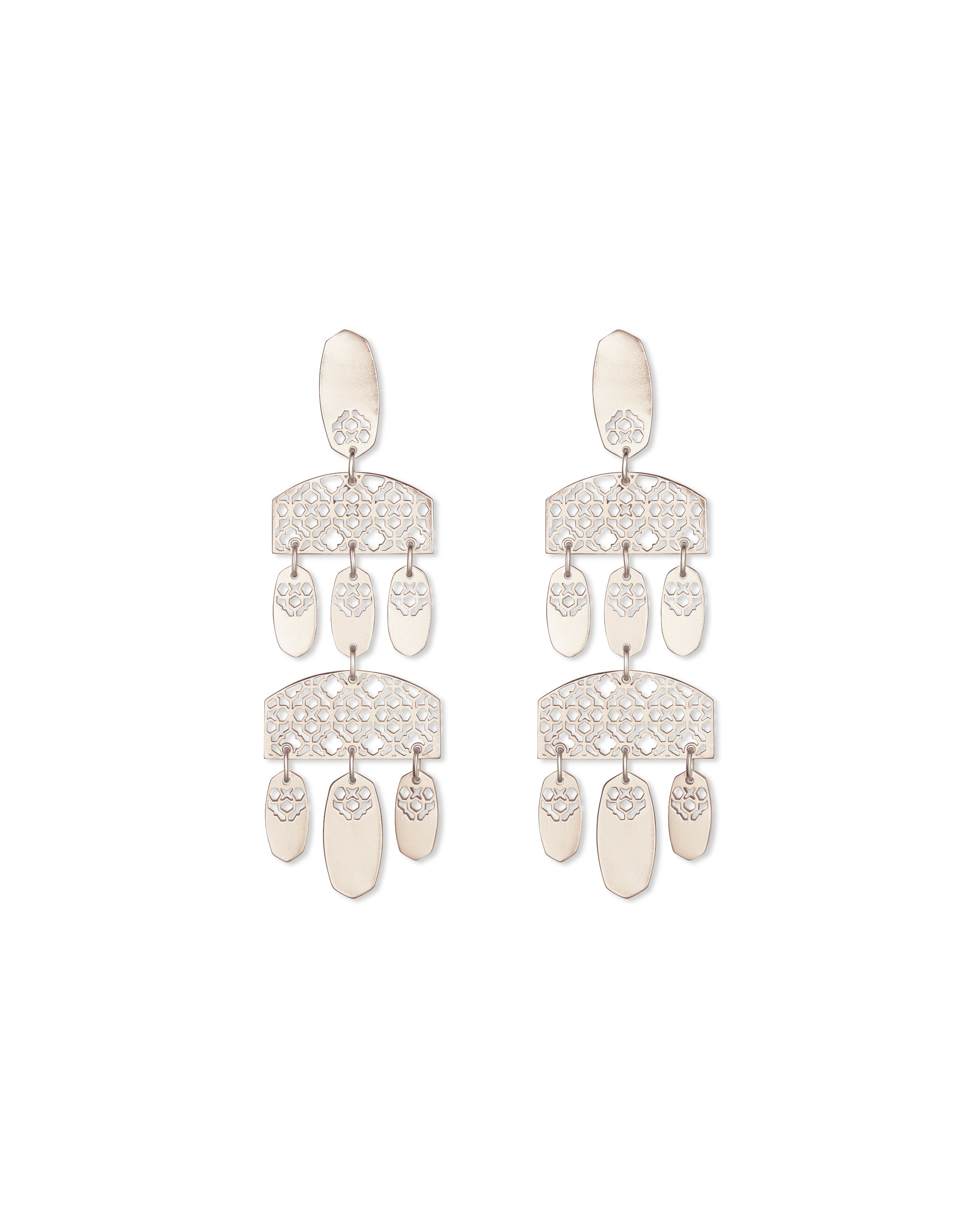 Kendra Scott Emmet Earring in Silver Filigree Metal