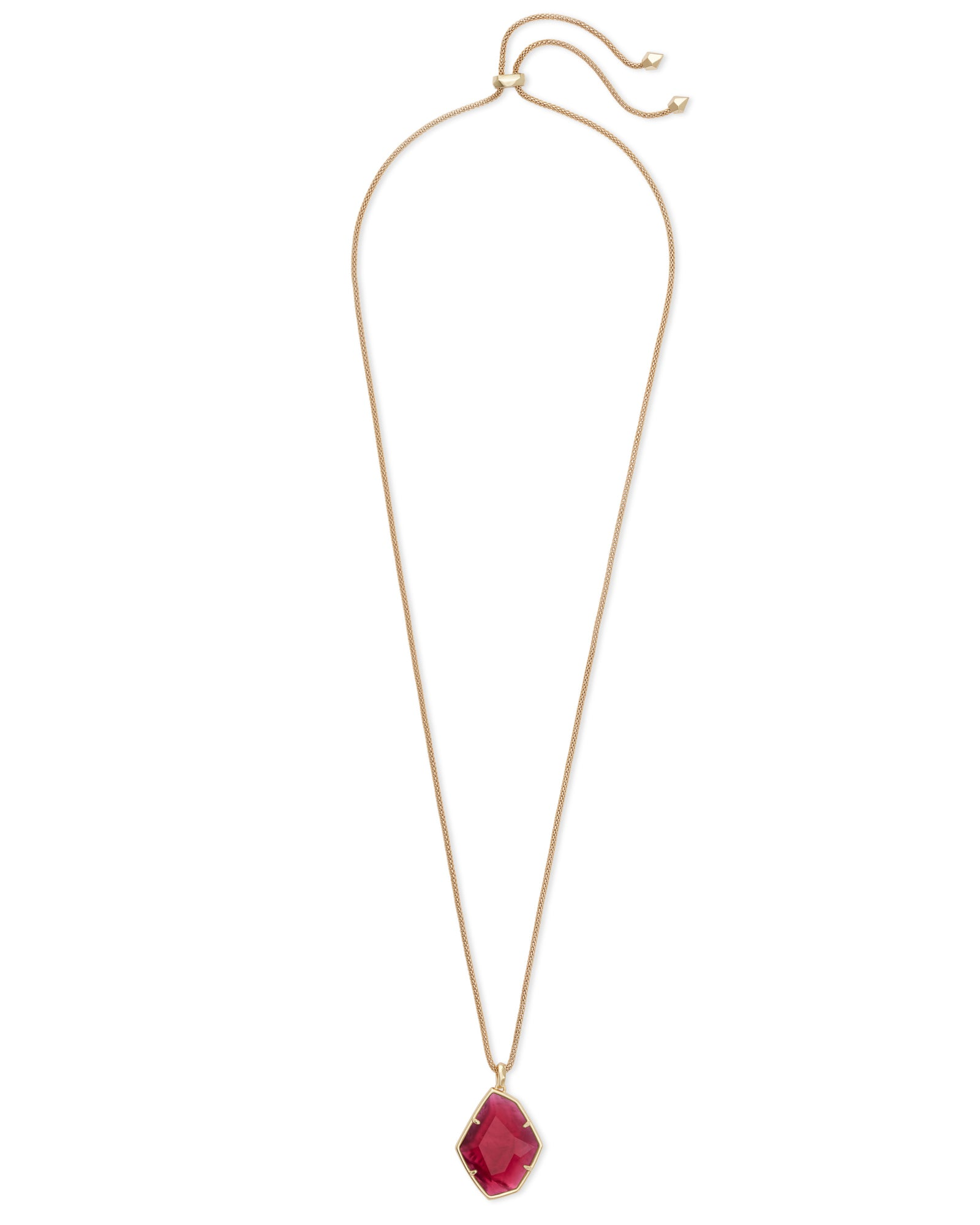 Kendra Scott Kalani Gold Pendant Necklace In Berry Illusion