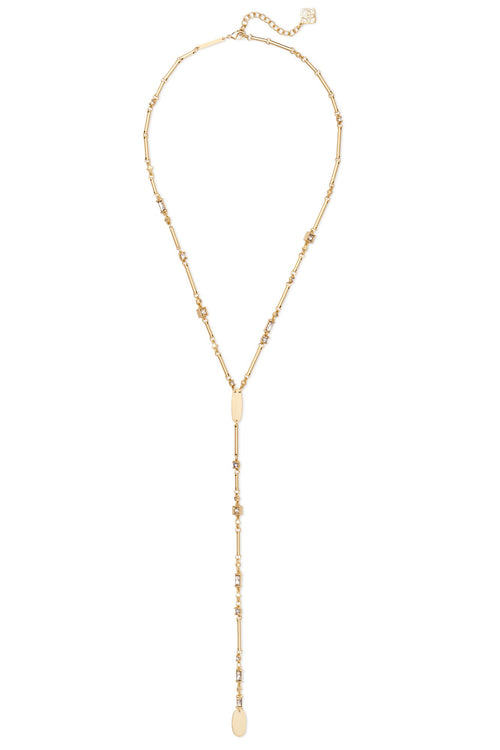 Kendra Scott Crowley Necklace in Gold Smoky Mix