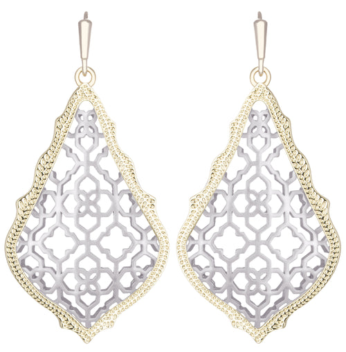 Kendra Scott Gold Addie Earrings in Silver Filigree