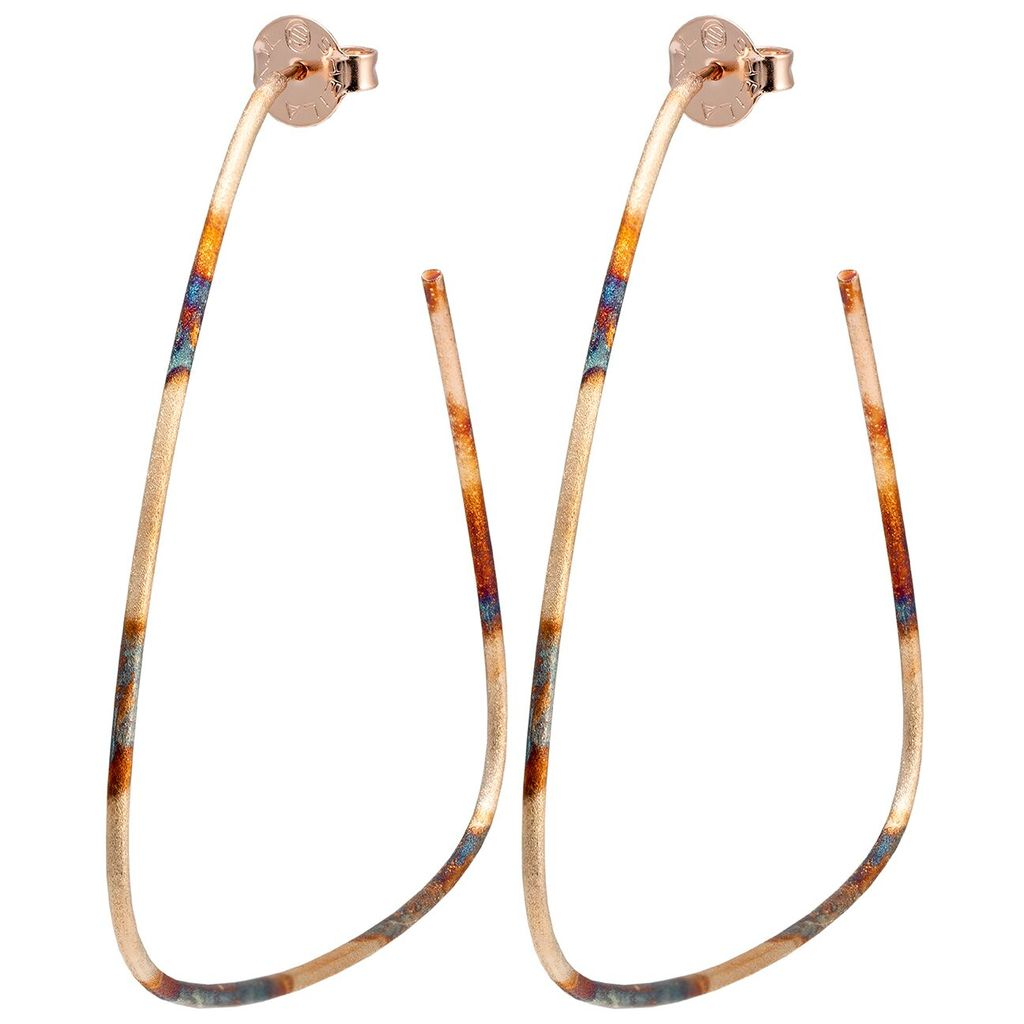 Sheila Fajl Avery Hoops in Burnished Gold