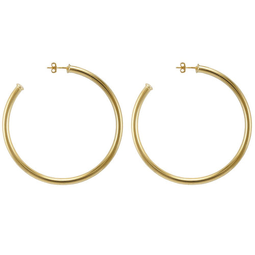 Sheila Fajl Everybody's Favorite Hoop Earrings Shiny 18k Gold