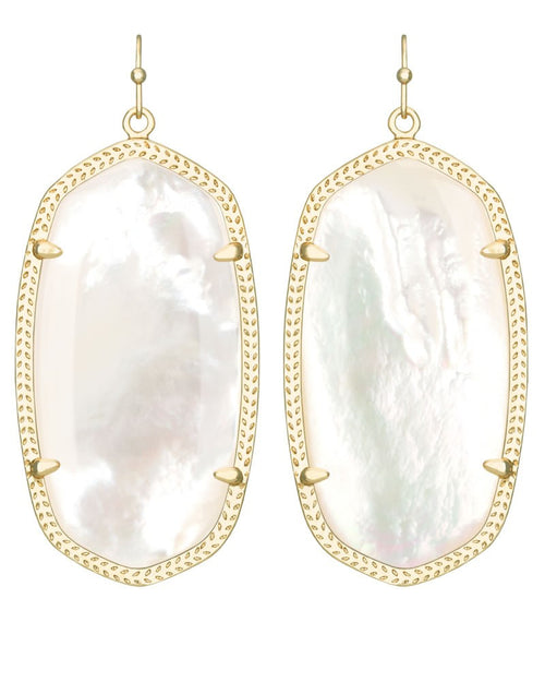 Kendra Scott Danielle Earrings Gold and Ivory Pearl