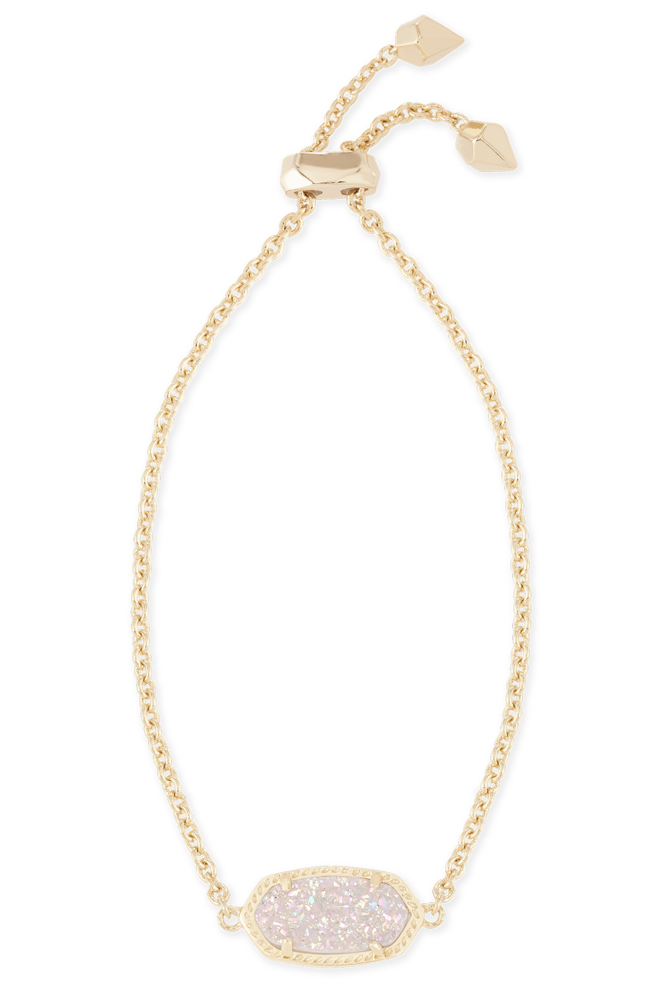 Kendra Scott Elaina Bracelet Gold with Iridescent Drusy