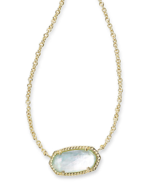 Kendra Scott Elisa Necklace In Light Blue Illusion