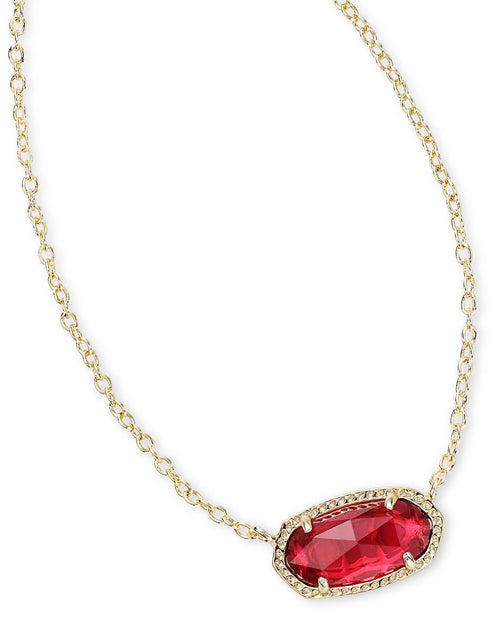 Kendra Scott Elisa Necklace In Clear Berry