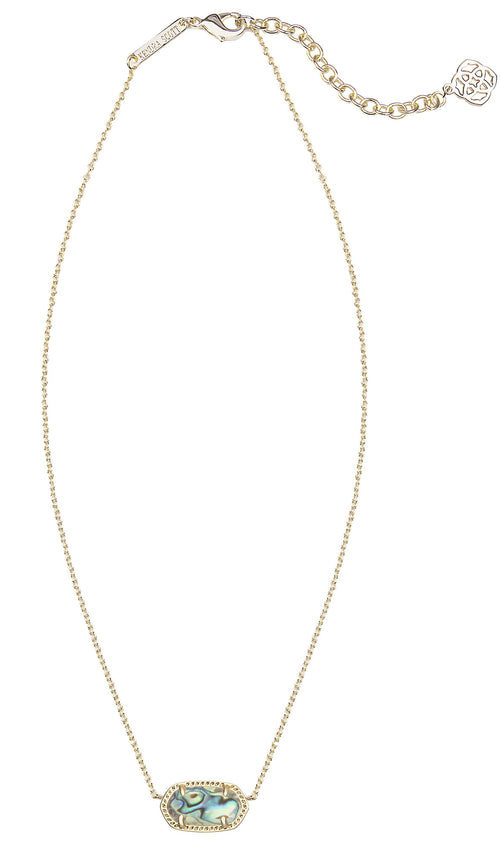 Kendra Scott Elisa Necklace Abalone Shell and Gold
