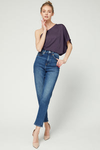 Keep It Chic One Shoulder Top in Purple