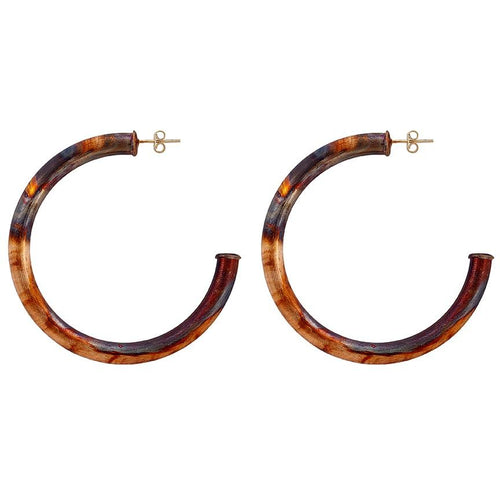 Sheila Fajl Arlene Hoop Earrings in Burnished Gold