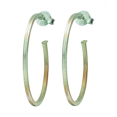Sheila Fajl Burnished Mint Perfect Hoops