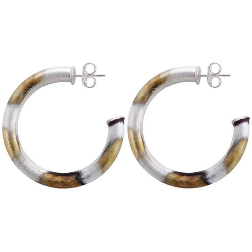 Sheila Fajl Chantal Hoop Earrings in Burnished Silver
