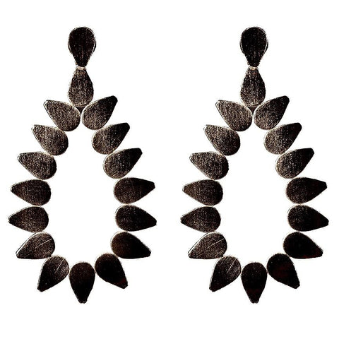 Sheila Fajl Livia Earrings in Gunmetal