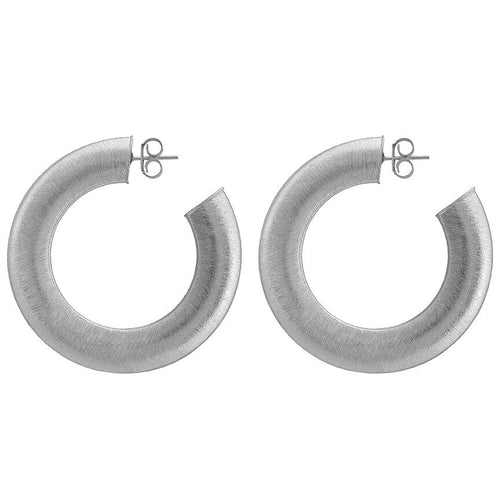 Sheila Fajl Irene Hoop Earrings in Silver