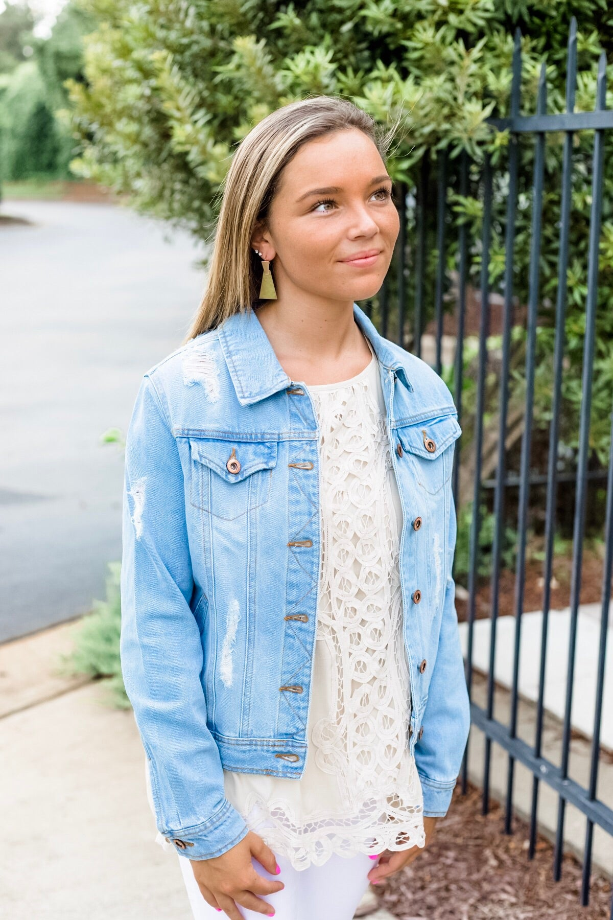Jolene Distressed Jean Jacket