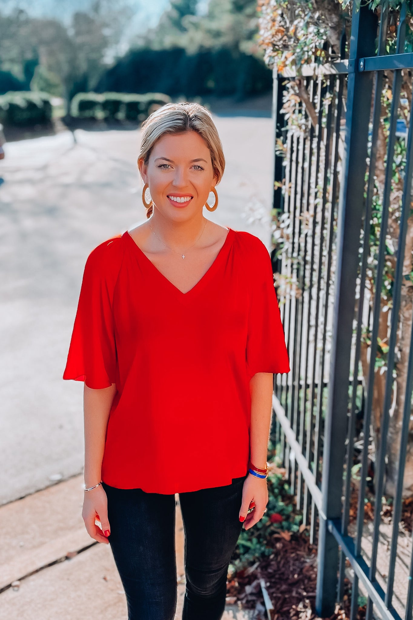 Marissa Blouse in Red