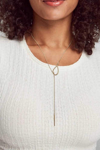 Kendra Scott Myles Y Necklace In Gold
