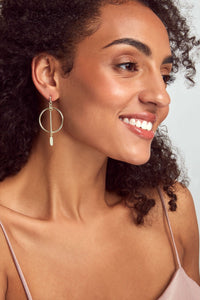 Kendra Scott Nalani Open Frame Earrings In Rose Gold