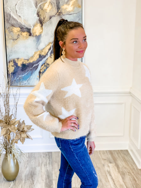 Starry Eyed Sweater in Oatmeal