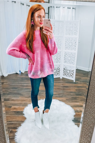Stand Out In Style Tie Dye Sweater