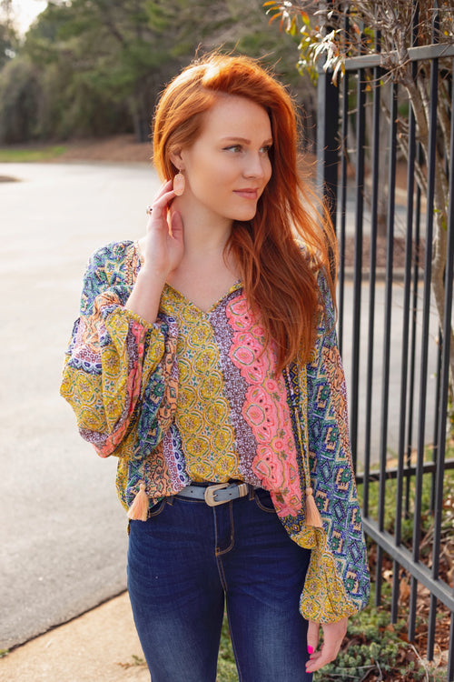 Beautifully Boho Print Top