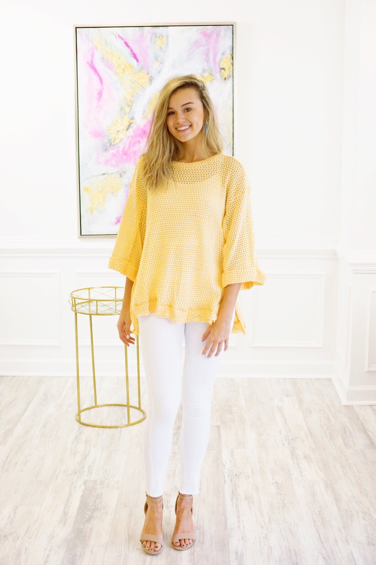 Worry Free Waffle Top in Honey
