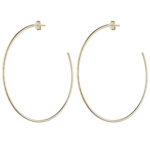 SHEILA FAJL Jillian Hoop Earrings in Gold