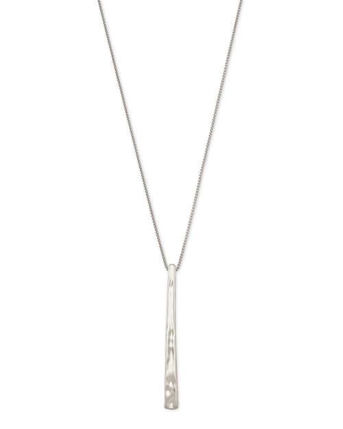 Kendra Scott Zorte Long Pendant Necklace In Silver