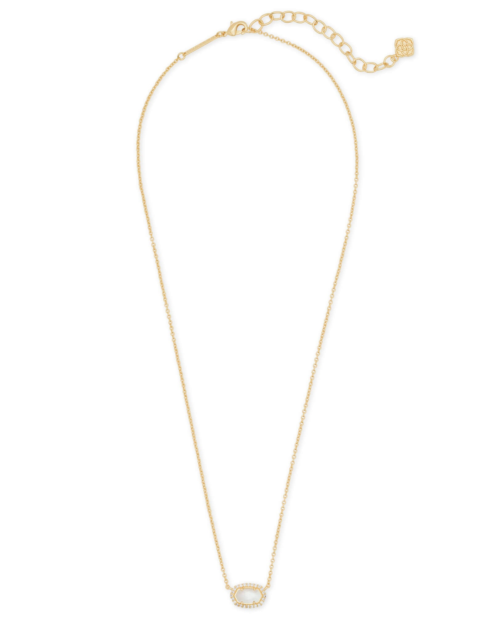Kendra Scott Chelsea Gold Pendant Necklace In Ivory Pearl