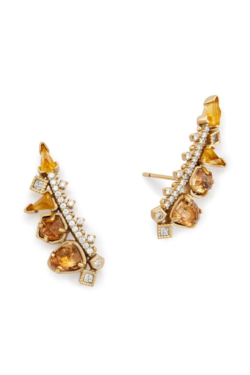 Kendra Scott Clarissa Ear Climbers in Gold Color Mix