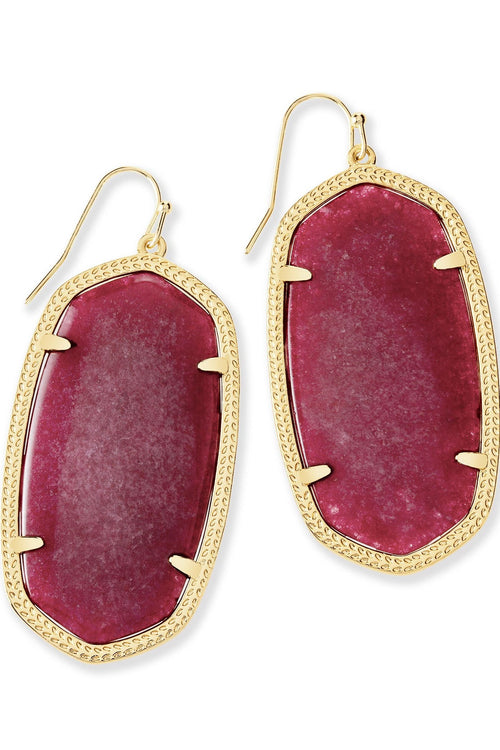 Kendra Scott Danielle Earrings In Maroon Jade